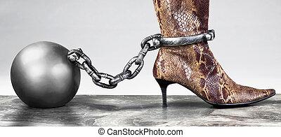 pelota, y, chain.