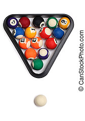 pelotas, blanco, tres