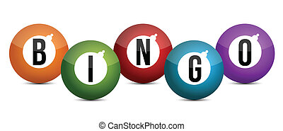 pelotas, coloreado brillantemente, bingo