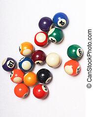 pelotas, cuatro, multicolor, snooker