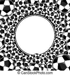 pelotas fútbol, marco, plano de fondo