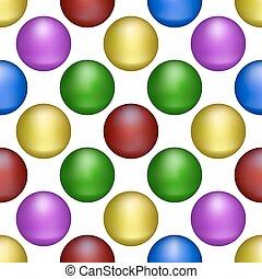 pelotas, forma, plano de fondo, multicolor