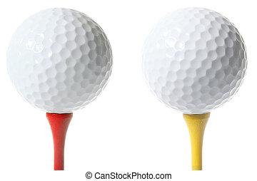 pelotas, golf, aislado