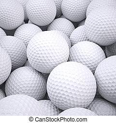 pelotas, golf, plano de fondo, afuera