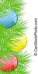 pelotas, navidad, Plano de fondo