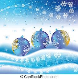 pelotas, navidad, snowbank