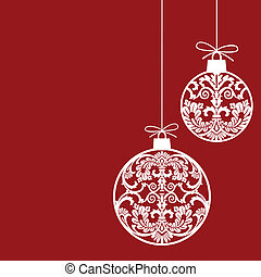 pelotas, ornamentos de navidad