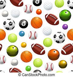 pelotas, patrón, 10eps, seamless