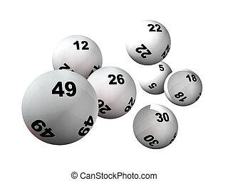 pelotas, siete, lotería