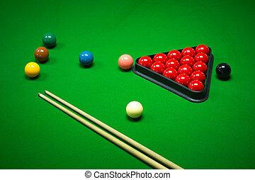 pelotas snooker, conjunto