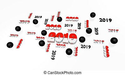 pelote, entwürfe, kugeln, einige, 2019, pala, mehrere