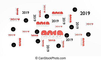 pelote, entwürfe, kugeln, oberseite, einige, 2019, pala,...