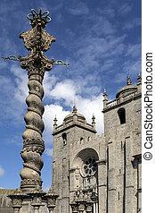 Pelourinho and Porto Cathedral - Porto - Portugal - The...