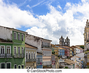 Pelourinho in Salvador, Bahia - House, facades and churches...