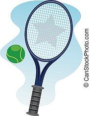 pelouse, boule tennis