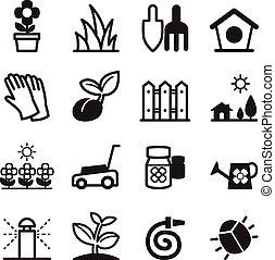 pelouse, icônes