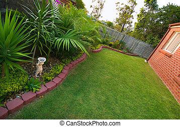 pelouse, jardin