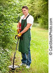 pelouse, jardinier, chevêtre