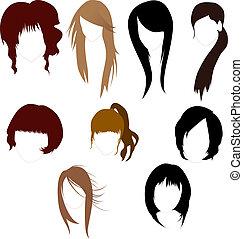 pelucas, mujeres