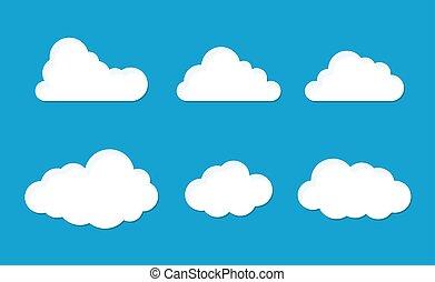 pelucheux, ensemble, nuage