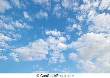 pelucheux, nuages