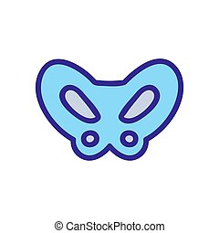 pelvic bone icon vector. Isolated contour symbol ...