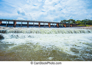 Pembrokeshire, Wales, Dam, Overflowing, Running Water