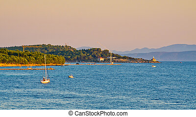 península, em, makarska, croácia