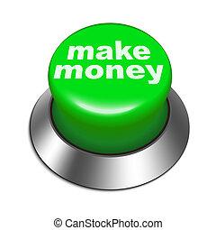 peníze, činit, knoflík, ilustrace, 3