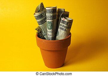 peníze umístit