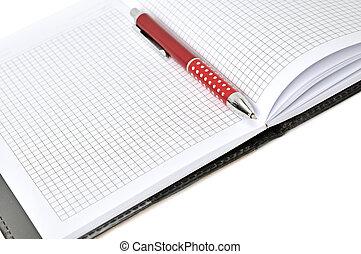 pen, aantekenboekje