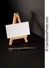 pen and blank business card