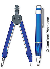 Pen and compasses