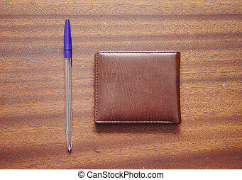 Pen And Money Wallet