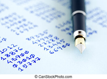 Pen And Numbers