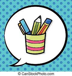 pen and pencil color doodle
