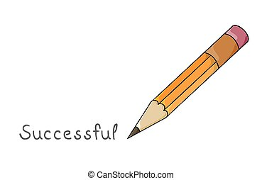 pen and written text: Successful - Pen and written text:...