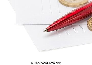 pen at envelope