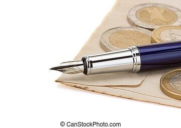 pen at paper