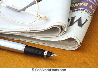 pen, avis, glas