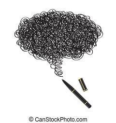 pen, black , tekening, inkt