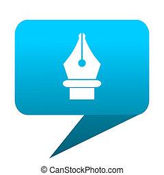 pen blue bubble icon