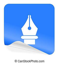 pen blue sticker icon