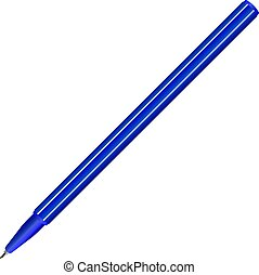 Pen Blue vector