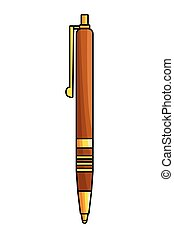 pen design icon cartoon isolated