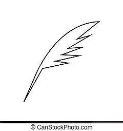 Pen Feather Icon Illustration design