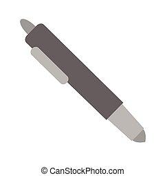 pen flat illustration on white