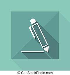 Pen - Flat vector icon