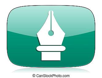pen green icon