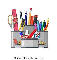 Pen holder office equipment.